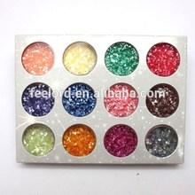 12 Color Acrylic UV Gel Nail Art Glitter Shell Powder