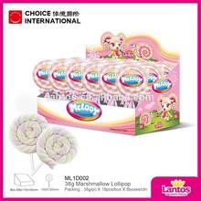 LANTOS BRAND 38G Twist Marshmallow Lollipop