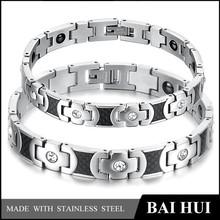 2015 Fashion Bracelet Stainless Steel Silver Magnetic Bracelet Benefit