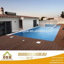 OUSHENGKAI durable wood plastic composite wpc decking cover around swimming pool