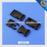 1/2' curved plastic clip buckles black metal buckle side release buckles wholesale