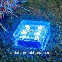 Waterproof 7*7 crystal glass solar led underground buried