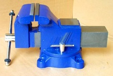 heavy duty bench vise swivel with anvil