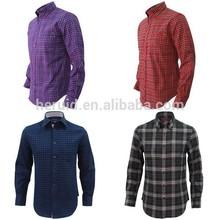 Fashion 100% cotton check wholesale flannel shirt