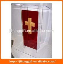 clear acrylic church pulpit