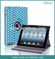 Polka Dot 360 Rotating Leather Case Skin for iPad 2 iPad 3 iPad 4