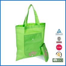 Silk Printing Non Woven Foldable Shopping Bag With Pocket