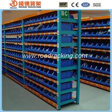 Metal shelving plastic storage bin rack