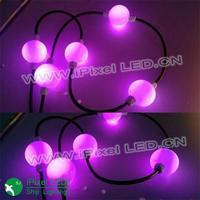 white or black cable dream color disco led ball light 12v 50 mm
