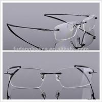 Titanium Optical frames Mens OX3113 Polished Black Rimless Eyeglasses frames Wholesale