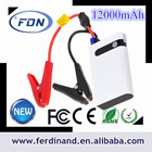 2014 new product mighty car jump starter, auto power bank 12000mah, emergency kit for pc/mobile phone/pad/psp
