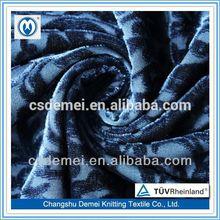 spandex jacquard black velvet shoes for men knitted fleece fabric