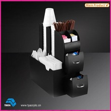 Luxury Popular Acrylic Vertical Coffee Cup Dispenser