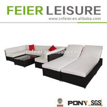 New design hot sale new trendy cane rattan sofa set