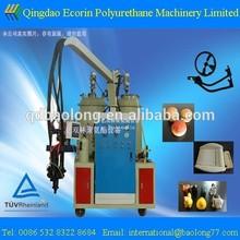 intergral skin steering wheel production machine/ micro-hole elastomer pu foam injection