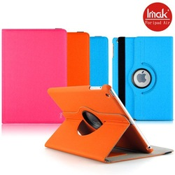 New arrival Imak brand jeans cover rotating flip PU leather case for ipad air 5