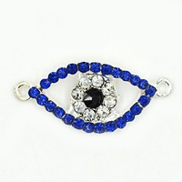 eyes double loop adapting piece alloy jewelry woven necklace and bracelet accessories with stone