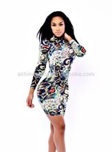Sexy Bodycon Leopard Vestidos De Fiesta Evening Woman Dress,The Model Of African Latest Dress Designs