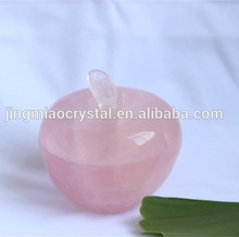 Souvenir Use Natural Pink Crystal Apple for Promotion