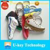 2015 best promotion gift soft pvc rubber air jordan sneaker 2d keychains