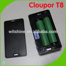 2014 New Top Design 150W Cloupor T8 Dual 18650 Battery VV VW Ecig Mod 100w Cloupor T6 Box Mod Cloupor T8