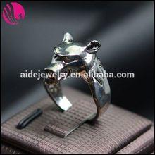 el más reciente de la moda de ley 925 tailandia pulsera de plata anillo de la cadena de tambor de bloqueo del anillo del anillo de cristal