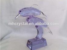 Purple Crystal Dolphin figurine MH-D0269