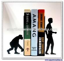 Evolution metal art bookends book holder