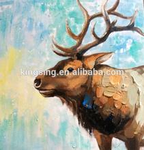 Handmade wild animal elephant decorative oil painting