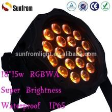 Super Brightness 22500LUX IP65 RGBWA 5in1 18x15w Led Par 64