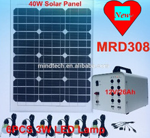 2015 newest 40W solar panel system for home use with 12V/26Ah SMF Lead Acid Battery Shenzhen China factory price
