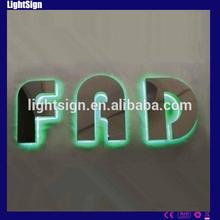 waterproof backlit led letter signage