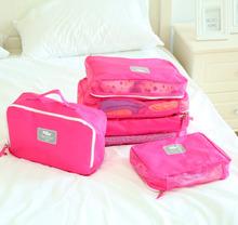 5 PCS Mesh Travelling Luggage Organizer Bag Set For Clothing