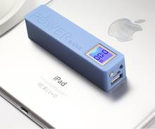 2014 New power bank 2600mAh carregador de bateria portatil with LED flashlight and big LCD display for Cell Phones charging