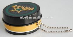 Mini Round Black Gift Tin Box Container