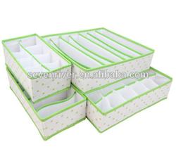 Fashion underwear storage box set(4pcs/set),bra storage box,storage box without cover