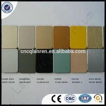 enterior aluminium composite materials chinese black glossy pvdf core acp