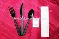 Reusable luxury stainless steel plastic cutlery set