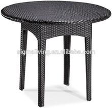 2014 Latest Designs Antique Outdoor Rattan Bar Table Garden Round Tea Table