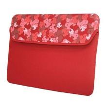 Anti shock neoprene bag laptop in red color