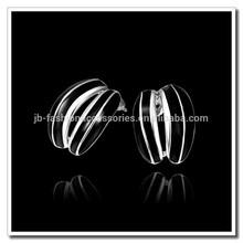 2015 Newest Design Women's Fashion Earring, Platinum Plated Black Epoxy Stud Earrings Jewelry, Stock Retail