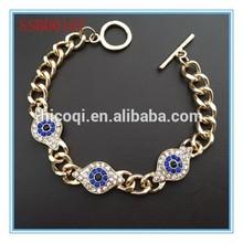 The newest style high quality shiny evil eye bracelet
