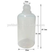 30ML e cig liquid plastic bottles PET with Childproof TAMPER cap new empty