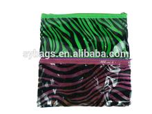 zebra-stripe clear pvc pencil pouch / school Handmade Canvas Pencil Bag / school ruler pencil bag for kids