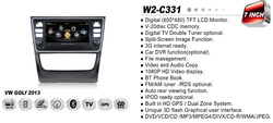 WITSON VOLKSWAGEN GOL GPS NAVIGATION WITH 1.6GHZ FREQUENCY DVR SUPPORT WIFI APE MUSIC RAM 8GB FLASH