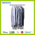 Transparente tampas do vestuário, leve lucidez de plástico transparente com zíper capa de plástico
