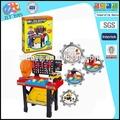 Divertido grande de simulación kit de herramientas de juguete, mantenimiento de herramientas de juguetes con luz de música&