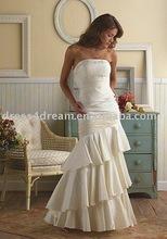 Beaded Taffeta Cascade vintage bride dress vestidos de novia