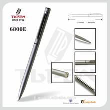 Silver slim metal hotel pen 6800E