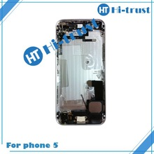 Free Shipping Accept paypal with logo best quality mobile phone back cover with small parts assembled for iphone 5G